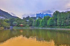 CUHK Reflection of the Lake Shatin Stock Photography