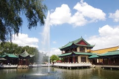 Cui Hu Park,Kunming in China. Cui Hu Park is an urban park in Kunming, Yunnan Province, China. It was established in the 17th century on the west side of the Stock Photos