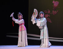 "Cui Yingying and the maid-Kunqu Opera ""the West Chamber"" Stock Photos"