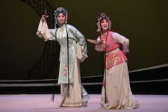 """Cui Yingying and the maid-Kunqu Opera """"the West Chamber"""". In May 17, 2015, the Suzhou Kunqu opera classic Kunqu Opera Xixiangji staged in nanchang.The world' Royalty Free Stock Images"""