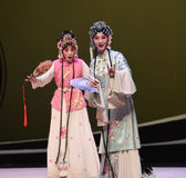 "Cui Yingying and the maid-Kunqu Opera ""the West Chamber"". In May 17, 2015, the Suzhou Kunqu opera classic Kunqu Opera Xixiangji staged in nanchang.The world' Stock Photography"