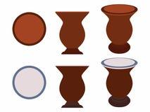 Cuia del compañero de Yerba coloreado stock de ilustración
