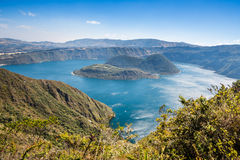 Cuicocha火山口湖,储备Cotacachi-Cayapas,厄瓜多尔 库存图片