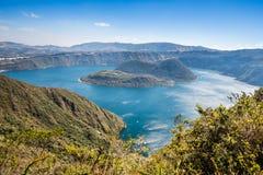 Cuicocha kratersjö, reserv Cotacachi-Cayapas, Ecuador Arkivbilder