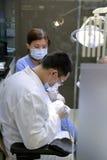 Cuida la cirugía para el paciente Fotografía de archivo