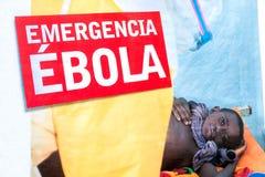 Cuidado contra Ebola Imágenes de archivo libres de regalías