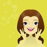 Cuidado da mulher s de sua pele Imagem de Stock