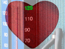Cuidado da pressão sanguínea Fotos de Stock