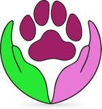 Cuidado de animal doméstico stock de ilustración