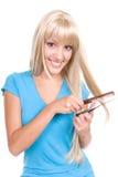 Cuidado de cabelo imagem de stock