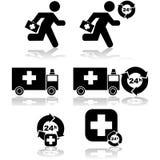 Cuidado de emergencia ilustración del vector