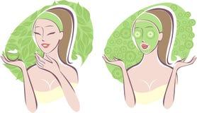 Cuidado de la belleza stock de ilustración