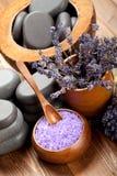 Cuidado de la carrocería; lavanda aromatherapy Imágenes de archivo libres de regalías
