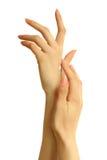 Cuidado de la mano Foto de archivo libre de regalías