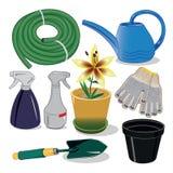 Cuidado de las plantas para el jardín y las casas de campo Fotografía de archivo libre de regalías