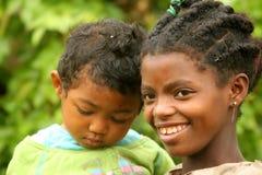 Cuidado de niños africano Imagen de archivo libre de regalías
