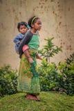 Cuidado de niños africano Foto de archivo