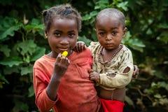 Cuidado de niños malgache Fotos de archivo libres de regalías