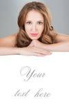 Cuidado de pele da beleza da face. fotografia de stock