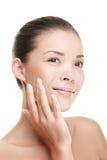 Cuidado de pele da mulher da beleza Fotos de Stock