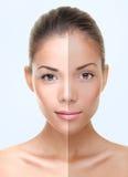 Cuidado de pele de Tan Imagens de Stock Royalty Free