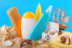 Cuidado de pele do verão Fotos de Stock