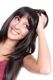 Cuidado de pelo Imagen de archivo libre de regalías