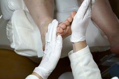 Cuidado de pie - masaje - Reflexology Imagen de archivo libre de regalías