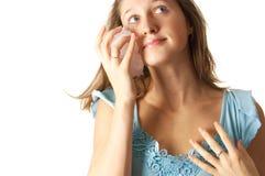 Cuidado de piel con hielo Fotos de archivo libres de regalías