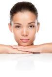 Cuidado de piel de la belleza de la cara Imágenes de archivo libres de regalías