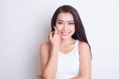 Cuidado de piel hermoso asiático de la mujer Imagenes de archivo
