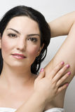 Cuidado de piel hermoso de la mujer Imagen de archivo libre de regalías