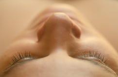 Cuidado de piel hermoso de la mujer Fotos de archivo