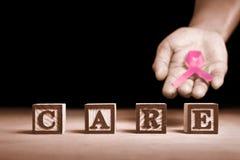 Cuidado del cáncer de pecho Foto de archivo libre de regalías