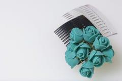 Cuidado del cabello Accesorios y decoraciones Dos conchas de peregrino para el pelo son transparentes y negras en color Las flore Fotos de archivo libres de regalías