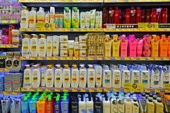 Cuidado del cabello y productos del cosmético Imagen de archivo libre de regalías