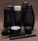 Cuidado del cabello y productos y accesorios el diseñar foto de archivo libre de regalías