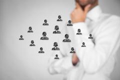Cuidado del cliente o recursos humanos Imagen de archivo