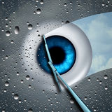 Cuidado del ojo stock de ilustración