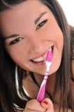 Cuidado dental da mulher fotografia de stock