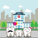 Cuidado dental de la familia Imágenes de archivo libres de regalías