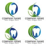 Cuidado dental Logo Natural Concept Fotografía de archivo libre de regalías