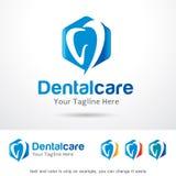 Cuidado dental Logo Template Design Vector ilustración del vector