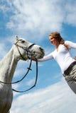 Cuidado do cavalo Fotos de Stock Royalty Free