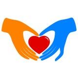 Cuidado do coração Fotografia de Stock Royalty Free