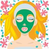 Cuidado facial Foto de archivo libre de regalías