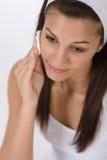 Cuidado facial de la belleza - piel de la limpieza de la mujer del adolescente Imagen de archivo