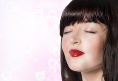 Cuidado hermoso de la cara Girl.Spa.Skin. Foto de archivo