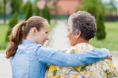 Cuidado idoso Foto de Stock Royalty Free