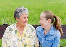 Cuidado idoso Imagem de Stock Royalty Free